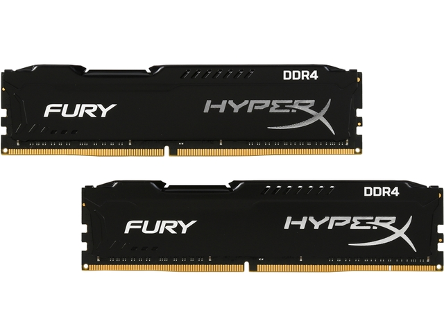 16 Gb Ddr4 2133 Mhz Hyperx Fury Black Kingston Cl14  Kit (2*8Gb)Hx421C14Fb2K2/16Gb