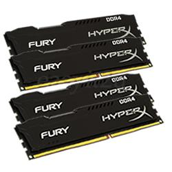 16 Gb Ddr4 2133 Mhz Hyperx Fury Kingston Cl14  Kit (4X4)Hx421C14Fbk4/16Gb