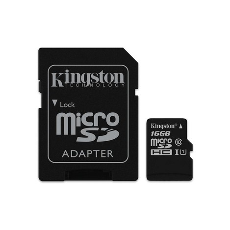 16 Gb Kingston Micro Sdhc Class 10 Flash Card Sdc10G2/16Gb