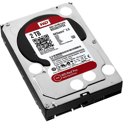 2 Tb Sata-3 64Mb Intellipower Western Digital Red Pro Nas Wd2001Ffsx