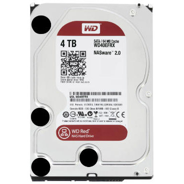 4 Tb  Sata-3 7200Rpm 64Mb  Intellipower  Western Digital  Red Nas Wd40Efrx