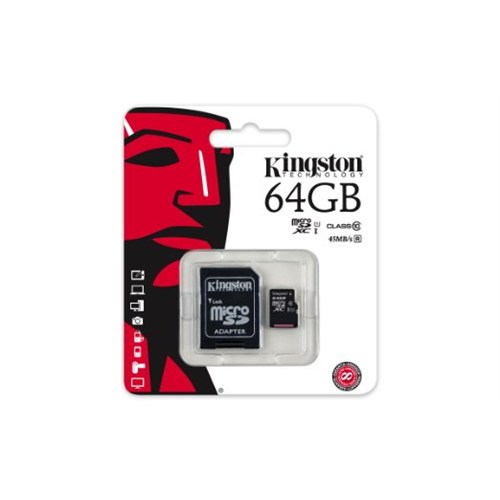 64Gb Kingston Micro Sdhc Kart Class10 Sdc10G2/64Gb