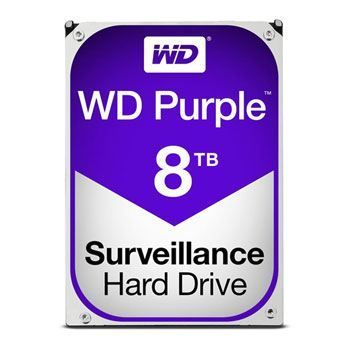 8 Tb Sata-3 5400Rpm 128Mb Cache Western Digital Purple Wd80Puzx (7/24 Guvenlik Diski)