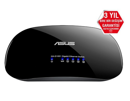 Asus Gx-D1051 5-Port Gb 10/100/1000Mbps Switch