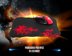 Everest Sgm-X10 Usb Kirmizi Gaming Mouse + Oyuncu Mouse Pad