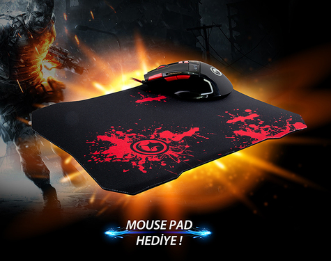 Everest Sgm-X10 Usb Siyah Gaming Mouse + Oyuncu Mouse Pad