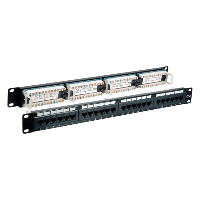 Geoplus Cat6 24 Port Utp 1U Dikey Patch Panel Organizerlı Dp-1001
