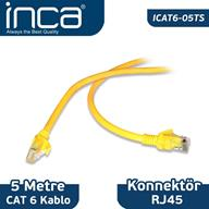 Inca Patch Kablo Icat6-05Ts Cat6 26 Awg 5 Mt Sari