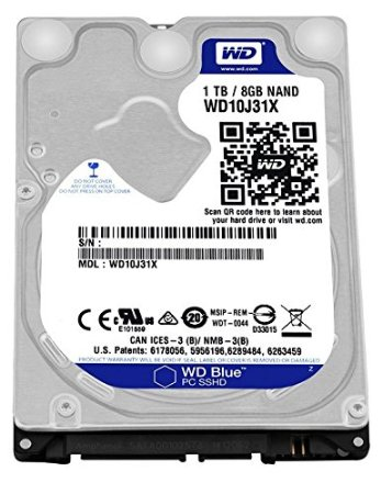 Notebook  1 Tb Sata6  5400Rpm 64Mb + 8Gb Ssd Western Digital  2.5