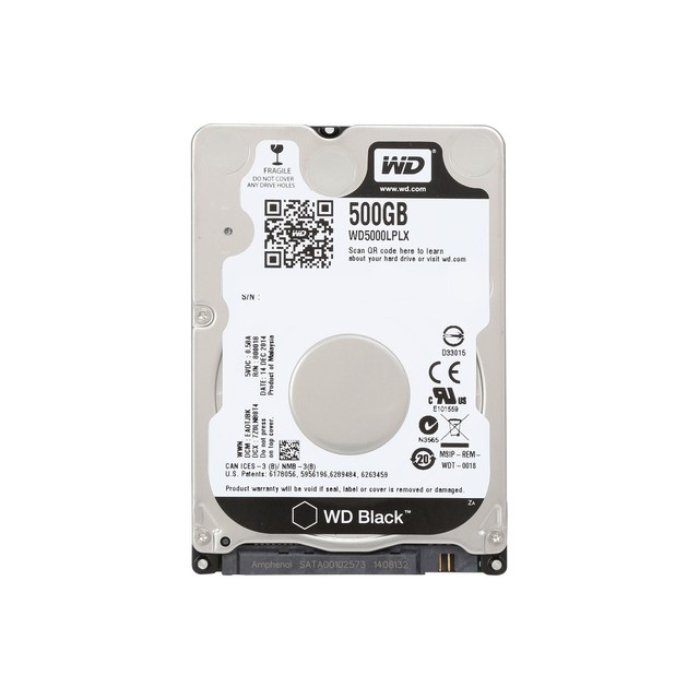 Notebook 500 Gb Sata3 7200Rpm 32Mb Western Digital 2.5